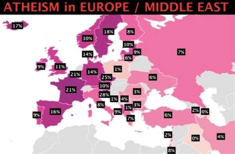 BiH on the World Map of Atheism and Non-Religious People