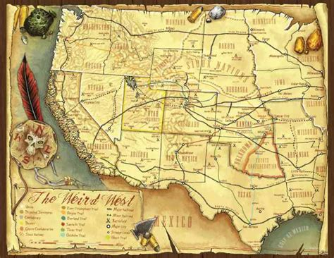 Map Old West - Map - Holiday - Travel HolidayMapQ
