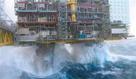 Drilling Rig Smashed by Massive Rogue Wave   The Inertia