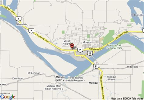 Map of Best Western Mission City Lodge, Mission