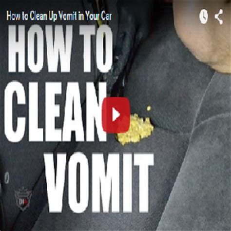 How To Clean Up Vomit In Your Car - Detail King