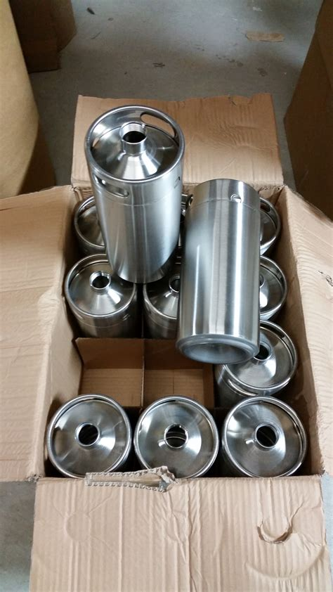 1 Gallon Stainless Steel Micro Keg Style Growler Stainless