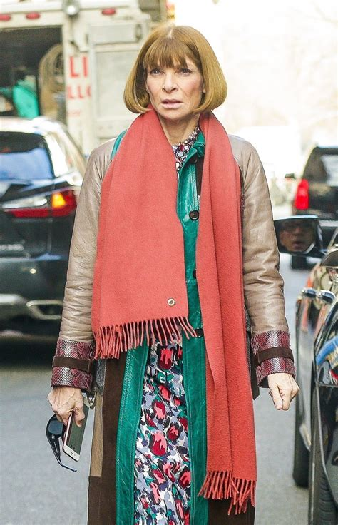 Vogue Editor-in-Chief Anna Wintour is seen without her
