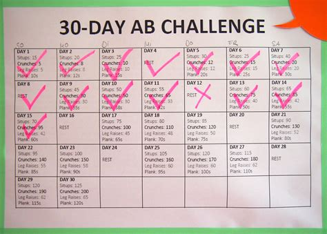 30 Day Ab Challenge: Update an Tag 15   Lila Lummerland