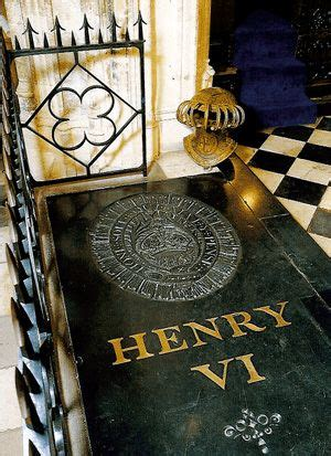 The tomb of Henry VI 1484 - The body of Henry VI was laid