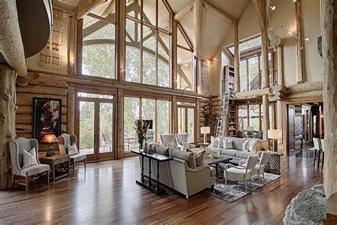 Timeless Luxury Log Home In The Foothills of The Canadian
